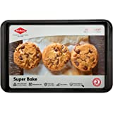 Willow Superbake Cookie Sheet Non Stick Heavy Duty for Everyday Baking Cakes Loafs Dessert Black