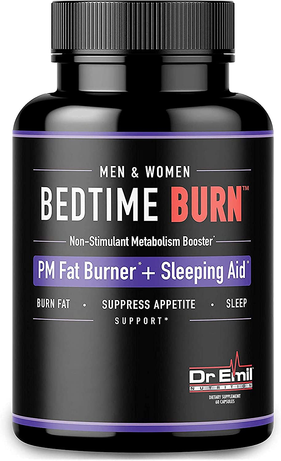 Dr. Emil - PM Fat Burner, Sleep Aid and Night Time Appetite Suppressant - Stimulant-Free Weight Loss Pills and Metabolism Booster for Men and Women (60 Diet Pills): Health & Personal Care