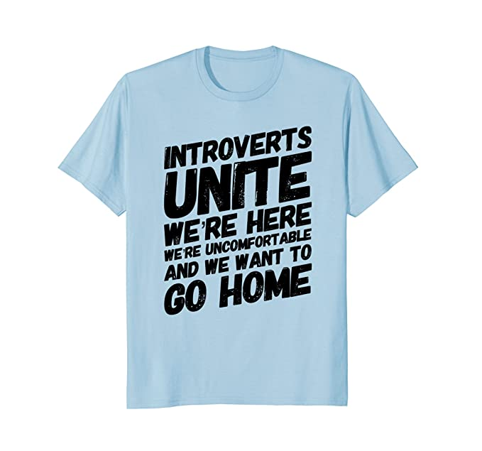 29018fdac Mens T Shirt - Introverts Unite - All Kinds Of People - Perfect 2XL Baby  Blue