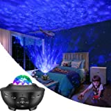 LBell Night Light Projector, 2 in 1 Ocean Wave Projector Star Projector w/LED Nebula Cloud for Baby Kids Bedroom/Game…