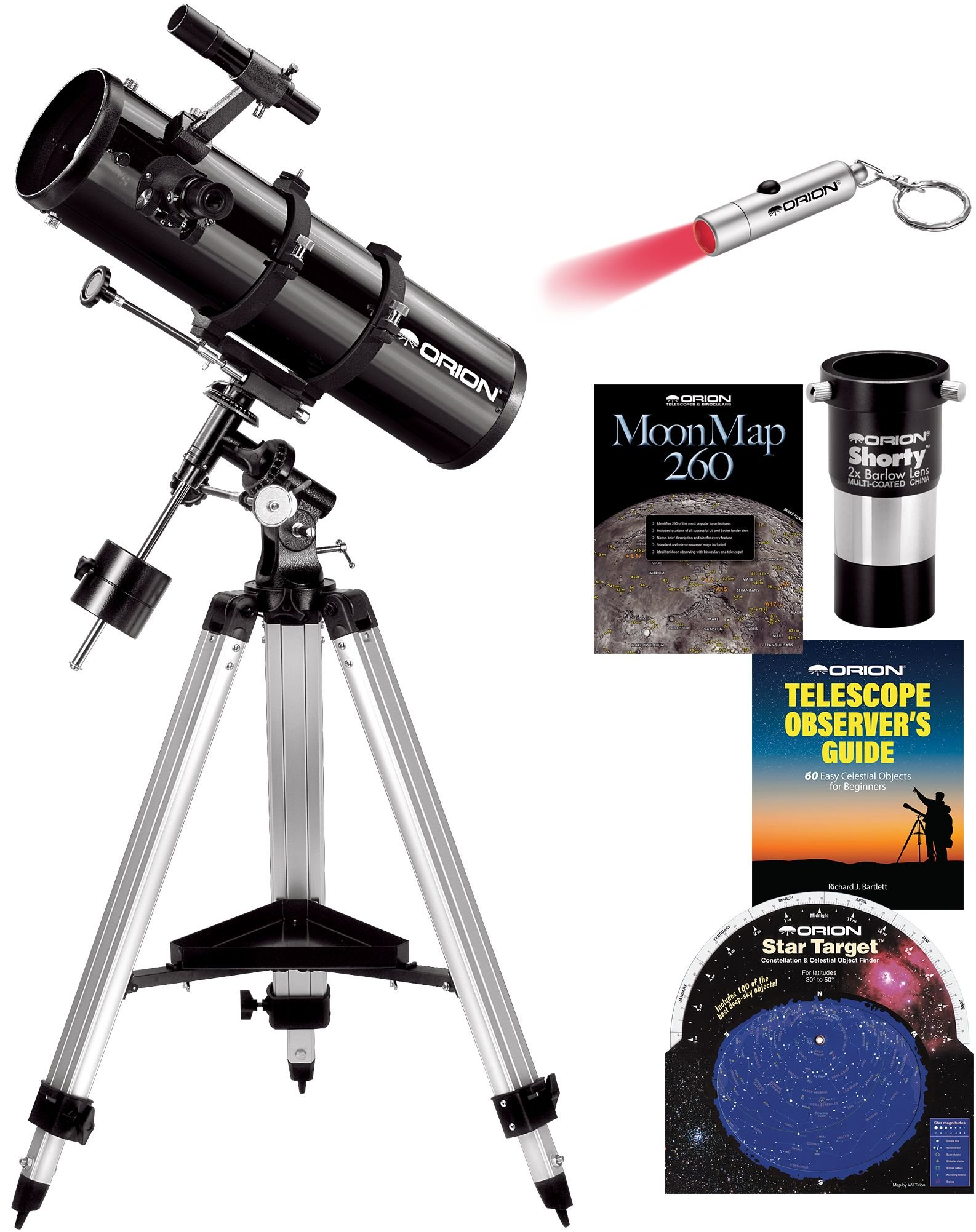 Orion SpaceProbe 130ST EQ Reflector Telescope Kit by Orion