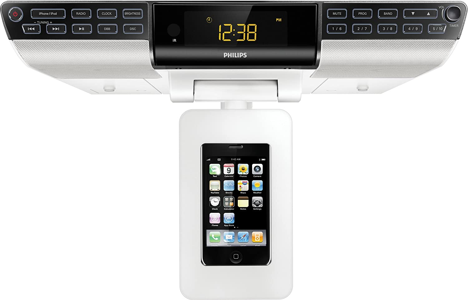Amazon.com: Philips DC6210/37 Kitchen Clock AM/FM Radio Dock For  IPod/iPhone (Discontinued By Manufacturer): Home Audio U0026 Theater