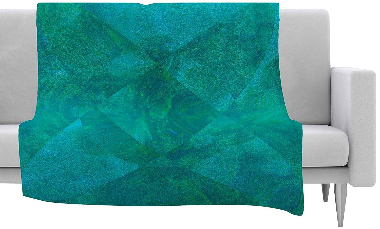 40 X 30 Kess InHouse Matt Eklund Under The Sea Teal Green Fleece Throw Blanket 40 by 30-Inch