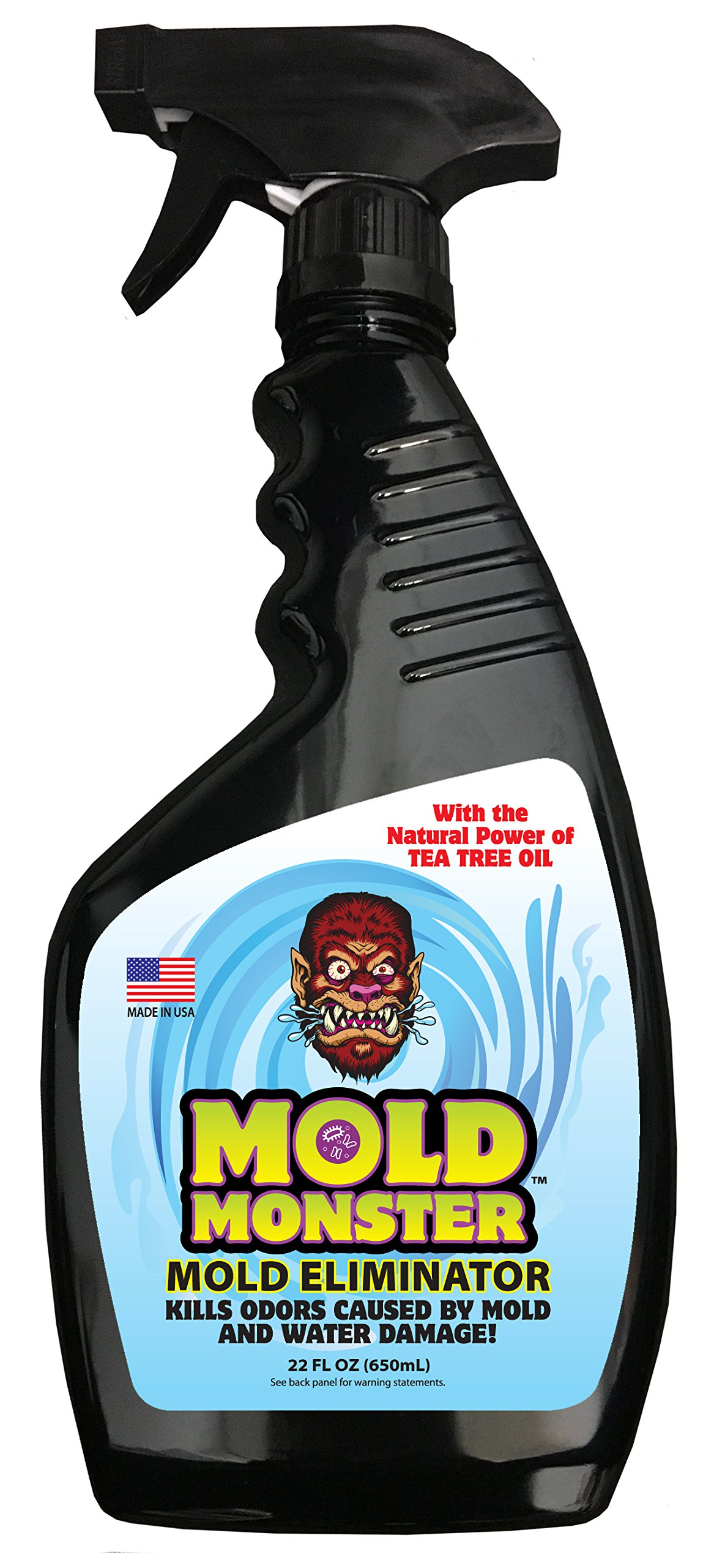 Mold Monster Water Damage Mold and Odor Remover - Effective on Water Based Mold, Mildew & Water Damage - Non-Toxic - 22 oz Spray Bottle … by Mold Monster
