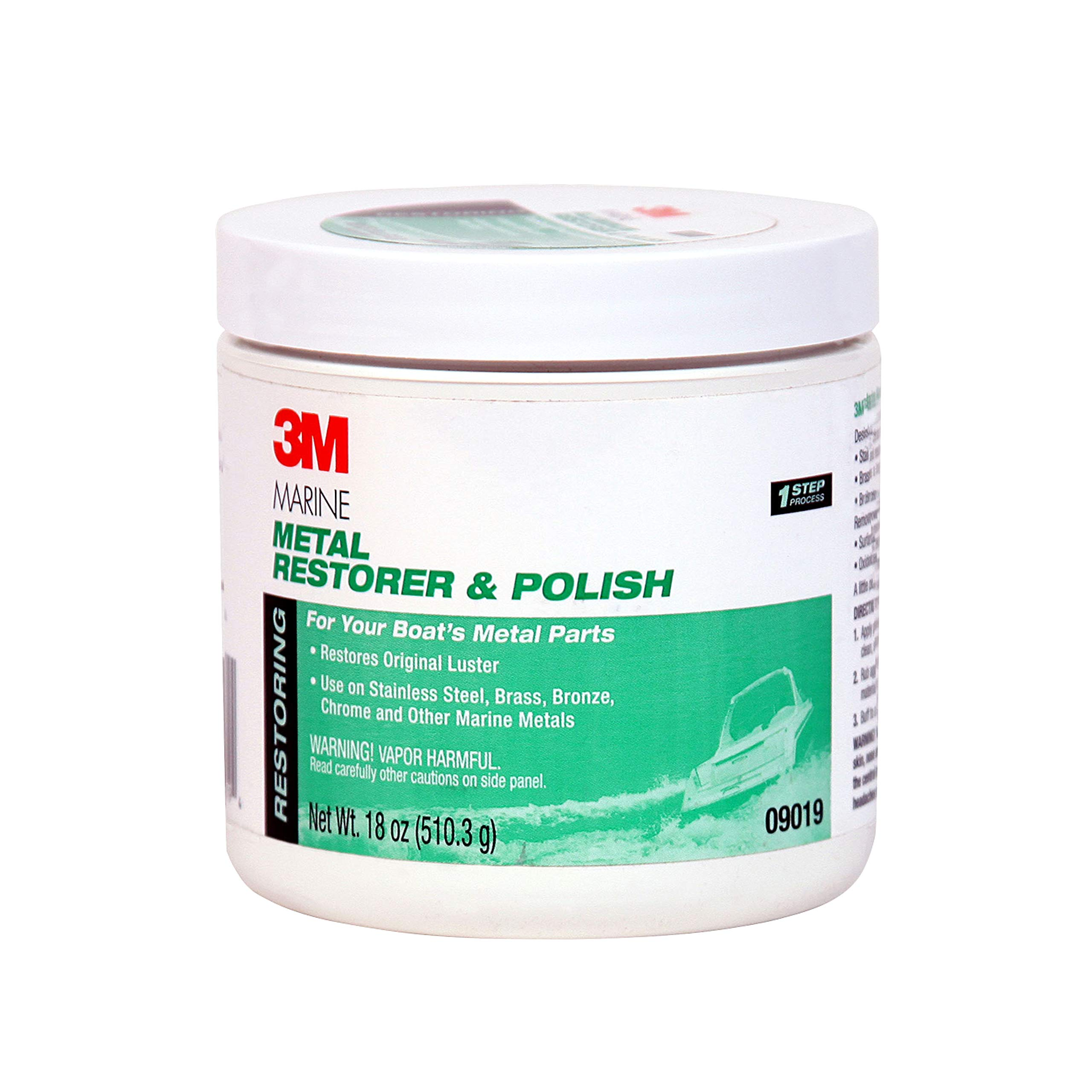 3M 09019 Marine Metal Restorer and Polish (18-Ounce Paste) by 3M