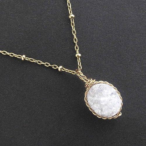 Quartz Geode Wire Wrapped Necklace