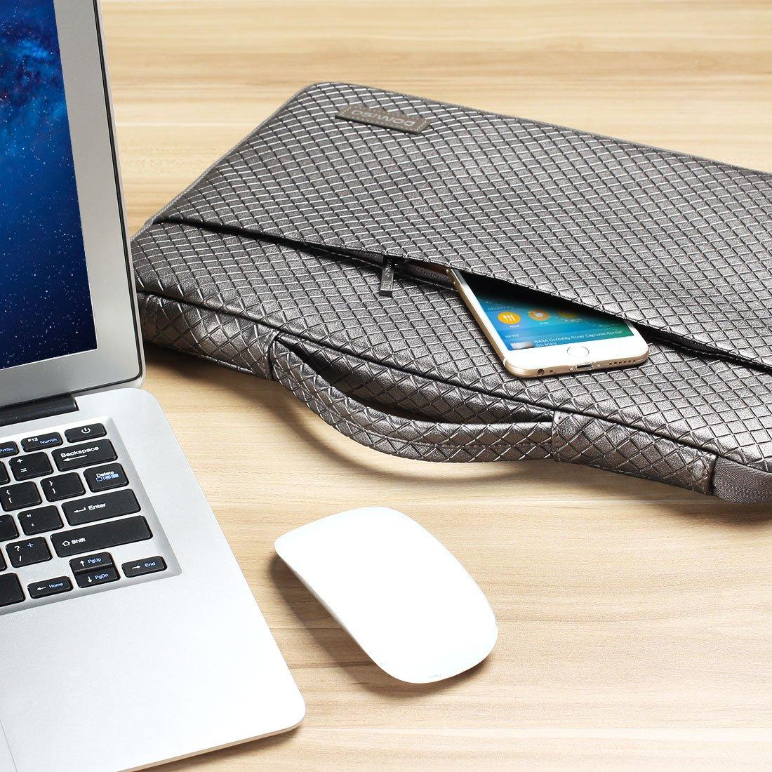 Lenovo IdeaPad ThinkPad//Acer Aspire 5 3 Spin 5 DELL//ASUS con Mango Gris Plateado DOMISO 15-15,6 Pulgadas Funda Resistente al Agua para Ordenador Port/átil//Apple HP Pavilion 15 Envy 15