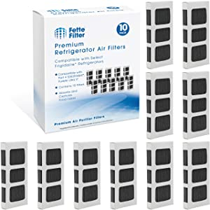 Fette Filter - Activated Carbon Refrigerator Air Filter Compatible with Paultra2 Ultra 2 Pure Air 2 Frigidaire and Electrolux Refrigerators Part #5303918847 (Pack of 10)