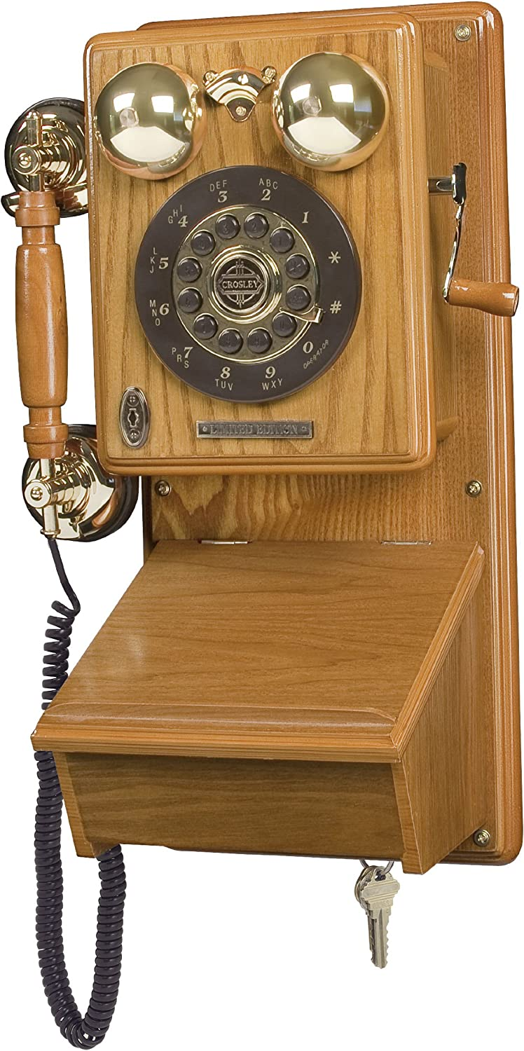 Crosley Cr91 Country Kitchen Wall Phone Oak Amazon Ca Office Products