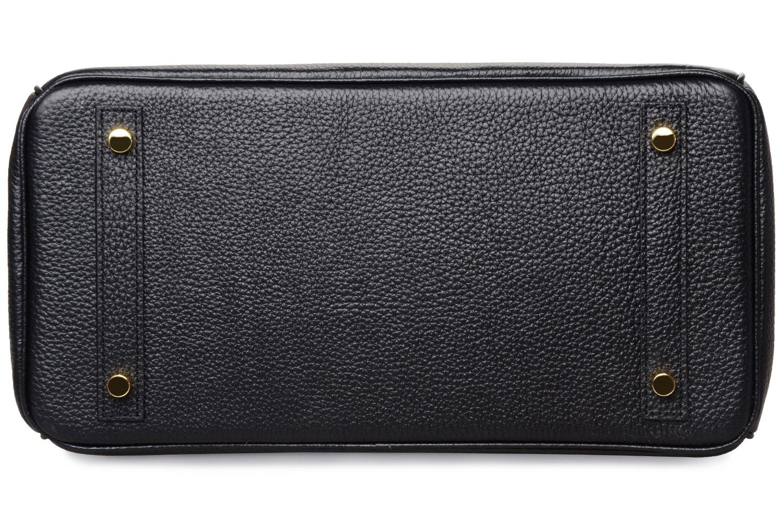 Cherish Kiss Women's Classic Genuine Leather Tote Padlock Handbags H35 (35CM, Black) by Cherish Kiss (Image #5)