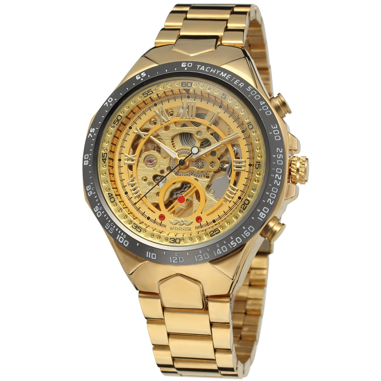 FORSININGメンズステンレススチールブレスレット自動スケルトン腕時計wrg8067 m4t6 B01DIQVR3G