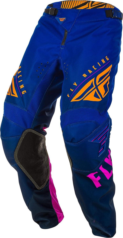 Mens 2XLarge 32 Waist Fly Racing 2020 Kinetic K220 Midnight//Blue//Orange Adult MX Gear Combination