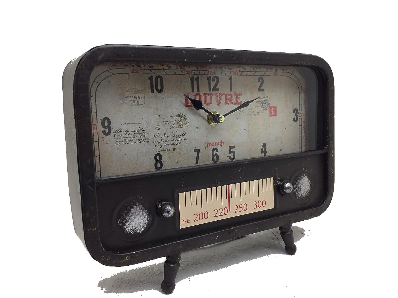 Reloj De Mesa Radio, reloj de pie, chimenea Reloj, Reloj de metal ...