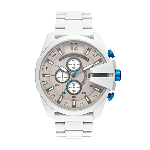 ca314994f892 Diesel Reloj Cronógrafo para Hombre de Cuarzo con Correa en Acero Inoxidable  DZ4502  Amazon.es  Relojes