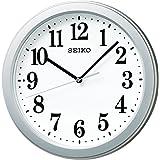 SEIKO CLOCK (セイコークロック) 掛け時計 電波 アナログ コンパクトサイズ 銀色メタリック KX379S