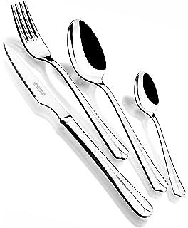Monix Oslo - Set de cubiertos 49 piezas, cubiertos de acero inox 18/10 con cuchillo…