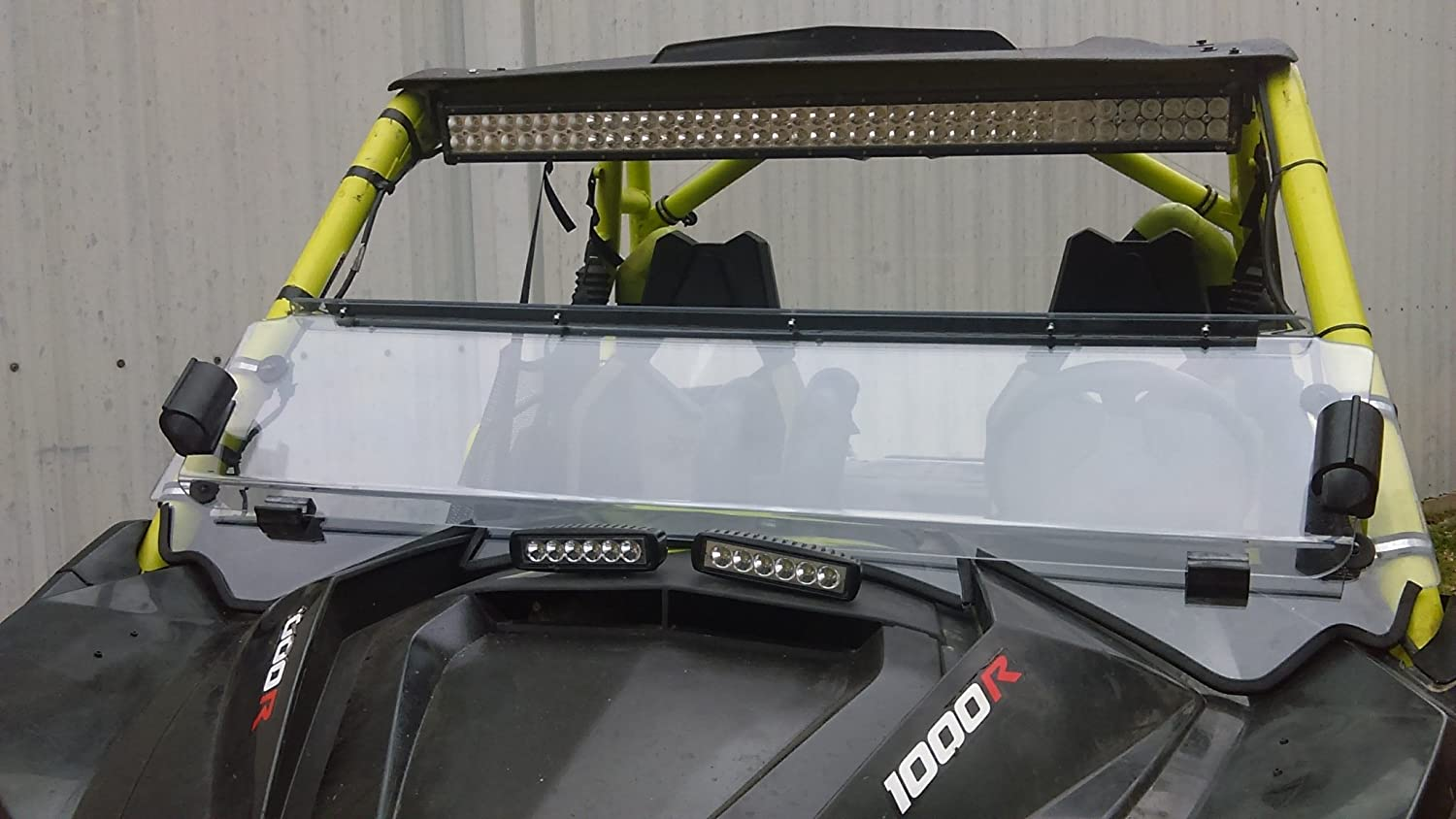A/&S AUDIO AND SHIELD DESIGNS 2013-2018 Can AM Maverick Max 1000r 1//4 Polycarbonate Fold Down Windshield