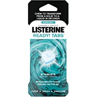 Listerine Ready Chewable Tablets, Clean Mint, 8 Count