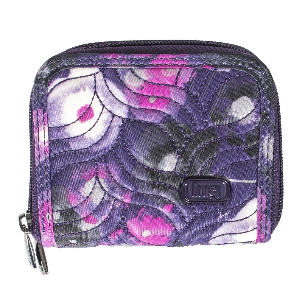 Lug Women's Splits Compact Wallet, Water Color Purple