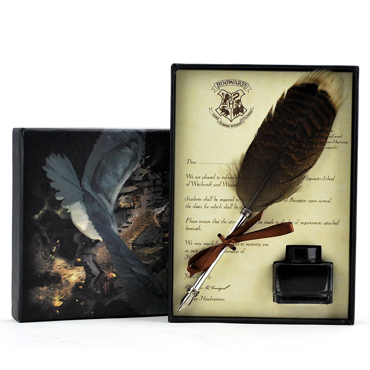 Quill Pen,Luxury Harry Potter Quill Pen and Ink Set