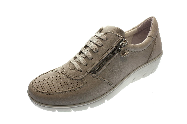 LONGO Mujeres Zapatos Planos Taupe Beige, (Taupe) 1009310 37 EU|Beige