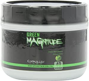 Controlled Labs Green Magnitude, Creatine Matrix Volumizer, 40 Serving, Sour Green Apple, (.92lbs) 418g