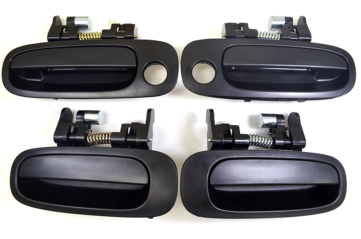 Front Left//Right Textured Black PT Auto Warehouse TO-3199A-QP Rear Left//Right Outside Exterior Outer Door Handle