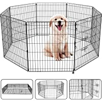 """36"""" Pet Playpen Dog Dence Exercise Pen, 8 Panel Pet Dog Playpen Puppy Enclosure Fence Play Pen, Indoor/Outdoor Foldable…"""