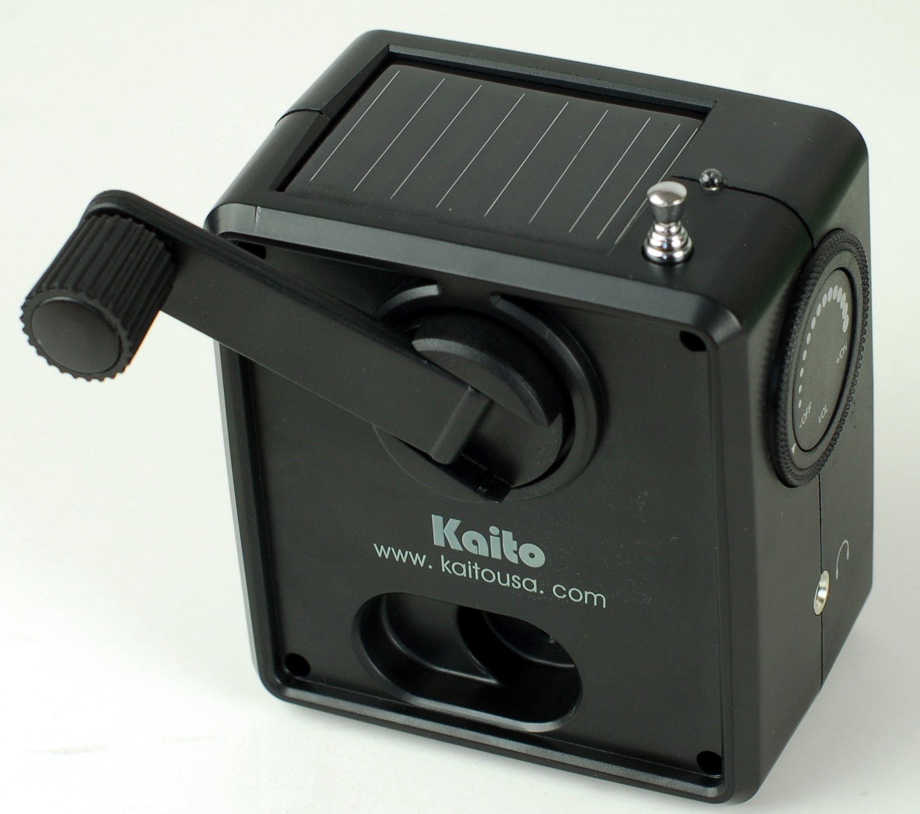 Kaito SB-1059 Mini Hand Crank AM/FM Weather Radio, Black by Kaito