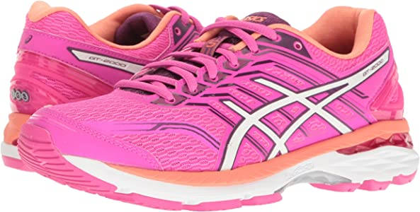ASICS Womens GT-2000 5 Running Shoe, Pink Glow/White/Dark Purple ...