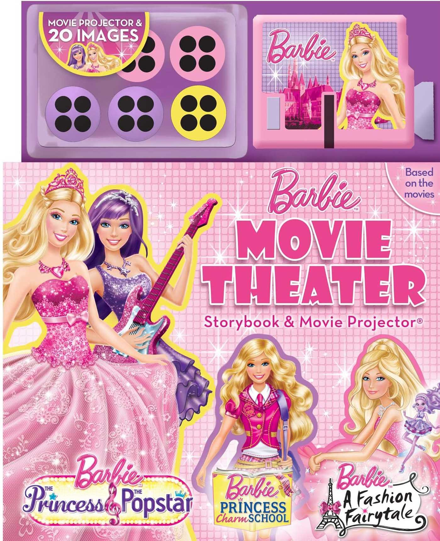 Barbie movie theater storybook with movie projector barbietm barbie movie theater storybook with movie projector barbietm 9780794427023 amazon books voltagebd Image collections