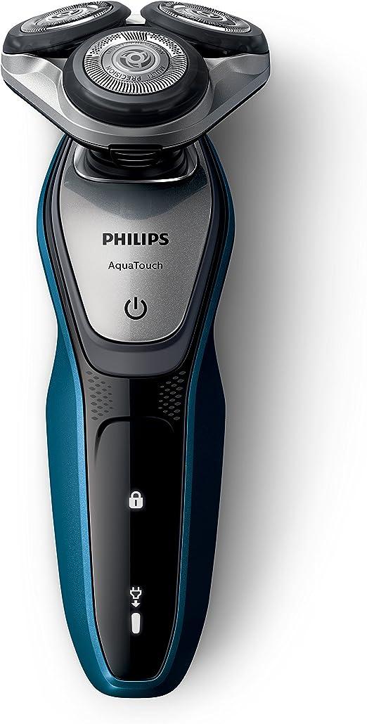 Philips AquaTouch S5420/59 - Afeitadora (Máquina de afeitar de rotación, SH50, 2 año(s), Azul, Carbón vegetal, Plata, LED, Batería): Amazon.es: Hogar