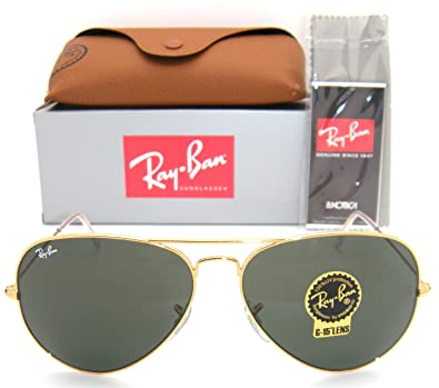 bbb7a82984c Amazon.com  RAY BAN AVIATOR RB3026 Sunglasses - Gold L2846 Large ...