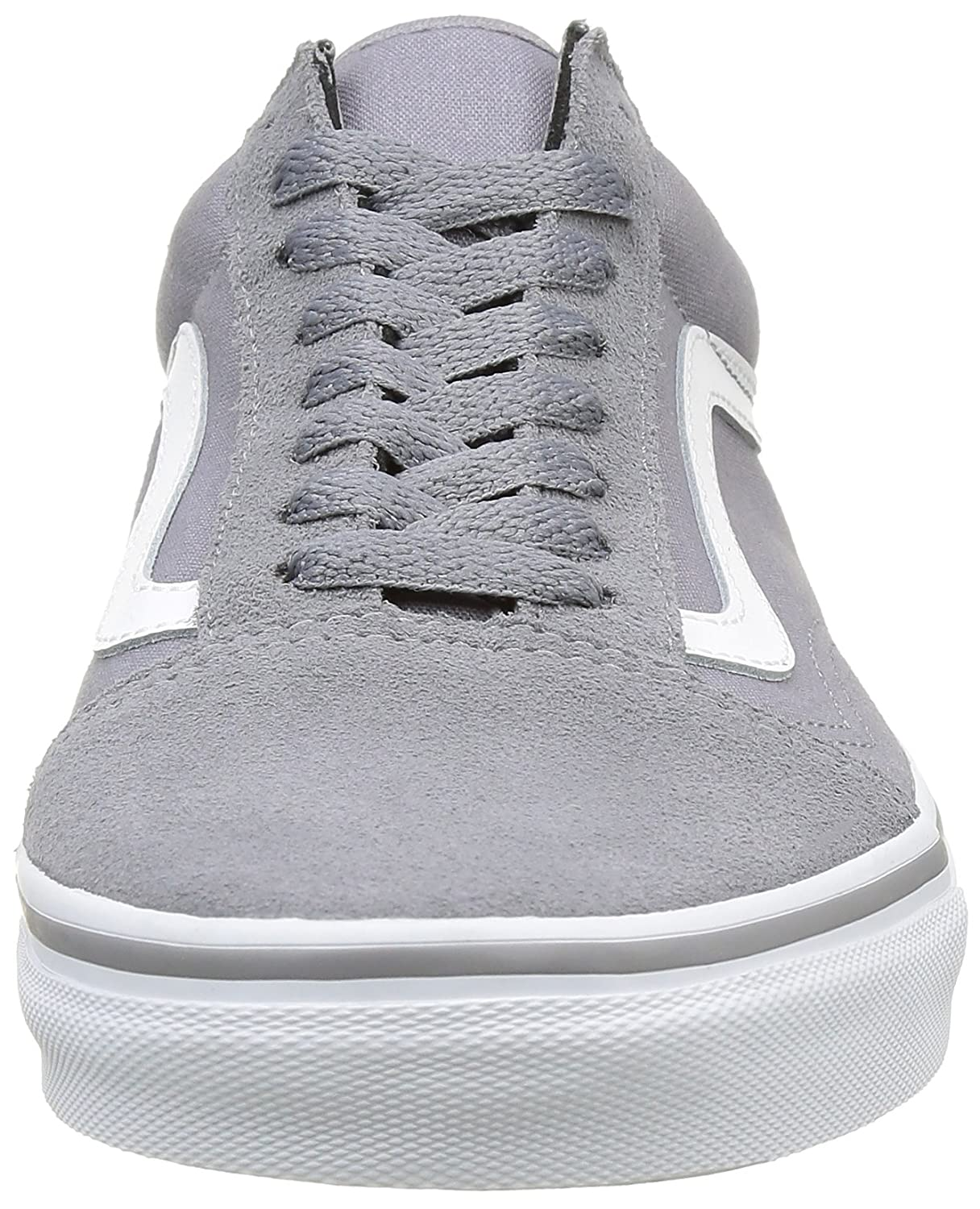 Vans Unisex Old Skool Classic Skate Shoes B01DYS876S 9.5 M US Women / 8 M US Men|(Suede/Canvas) Frost Gray/True White