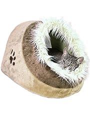 Trixie 36282 Minou Kuschelhöhle, 41 × 30 × 50 cm, beige/braun