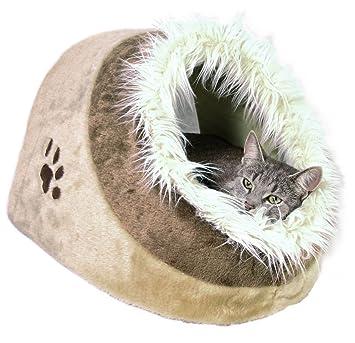 Trixie Cueva Suave Minou, 41x30x50 cm, Beige/Marrón: Amazon.es: Productos para mascotas