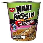 Nissin Pasta de Trigo para Preparar Sopa Instantánea, Sabor Camarón Picante, 12 Piezas