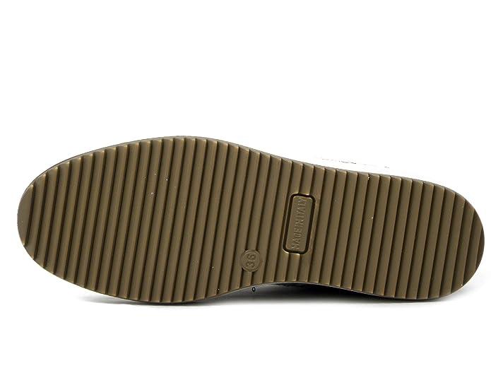 Scarpe Donna Sneaker Slipon in Tessuto Pizzo Beige Plantare Estraibile IMAC