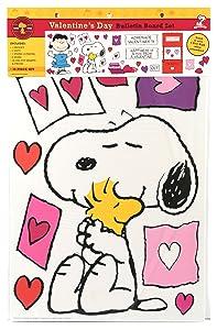 Eureka Teacher Supplies Snoopy Peanuts Valentine Bulletin Board Set, 38 pcs