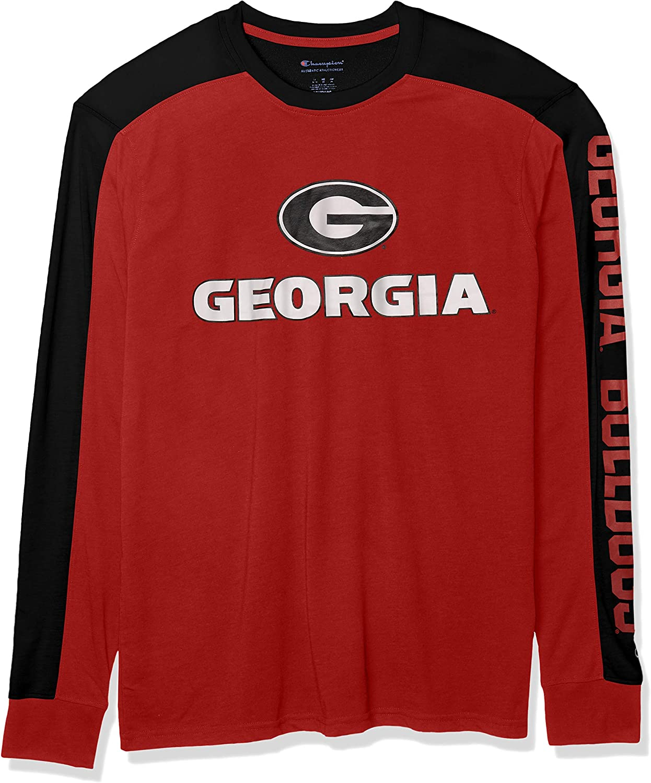 Champion NCAA Mens Field Day Color Blocked Long Sleeve T-shirt