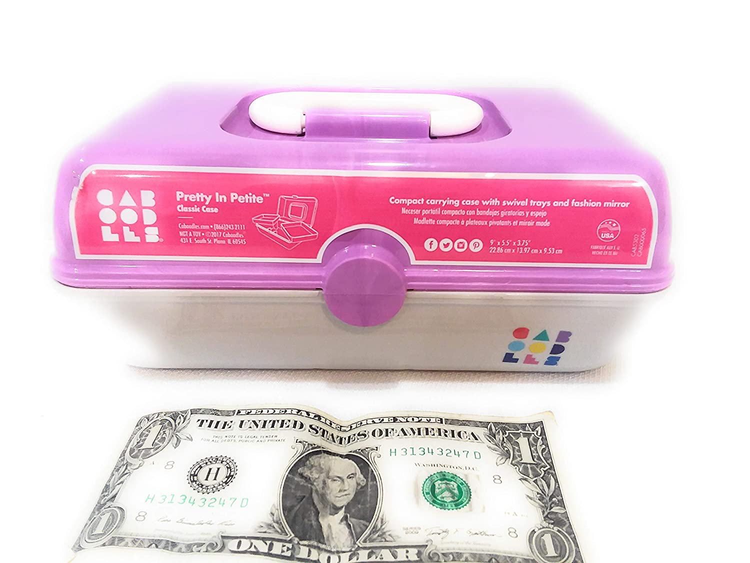 Amazon.com : Small Caboodles Makeup Cosmetic Case Pretty In Petite Girls (pink/aqua) : Beauty