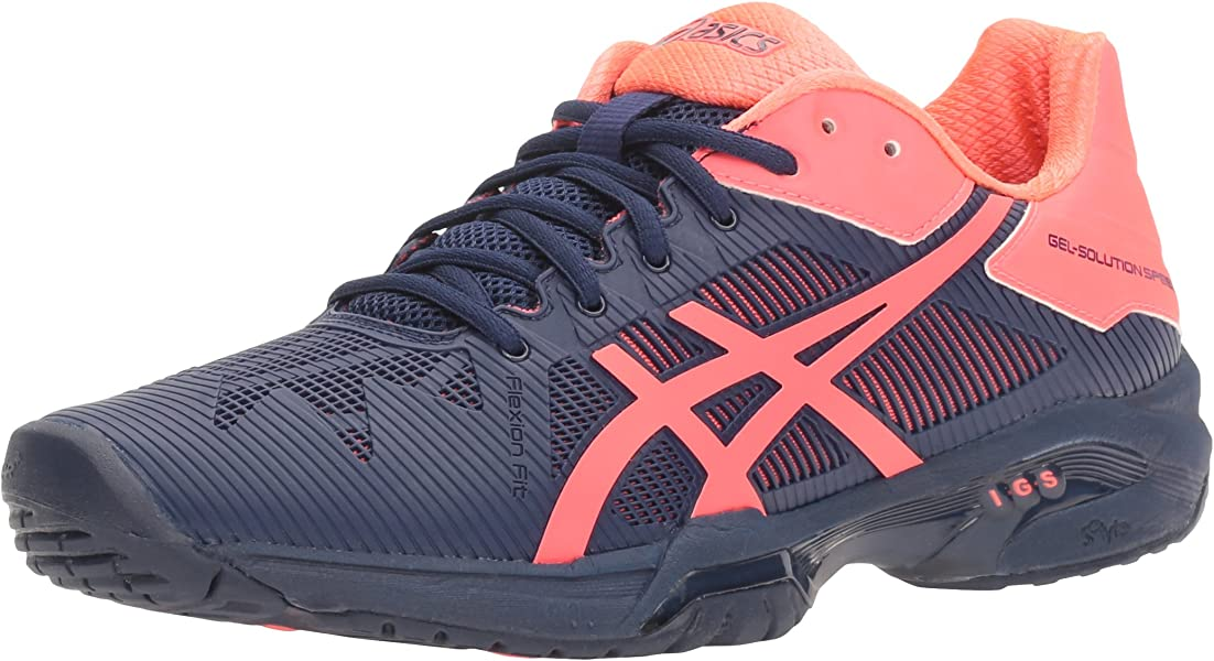 ASICS Women s Gel-Solution Speed 3 Tennis Shoe Indigo Blue Diva Pink 5 M 2cefe3198
