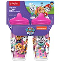 Playtex 2 Piece Sipsters Stage 3 Paw Patrol Spill-Proof, Leak-Proof, Break-ProofSpout Cup for Girls, 9 Ounce