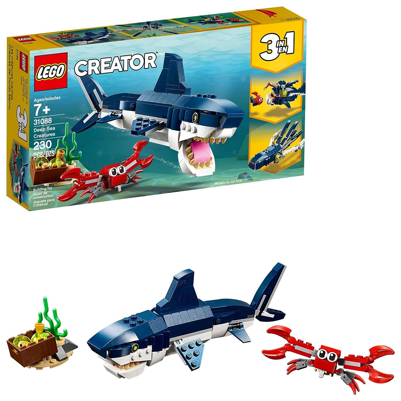 LEGO Creator 3in1 Deep Sea Creatures 31088 Building Kit , New 2019 (230 Piece)