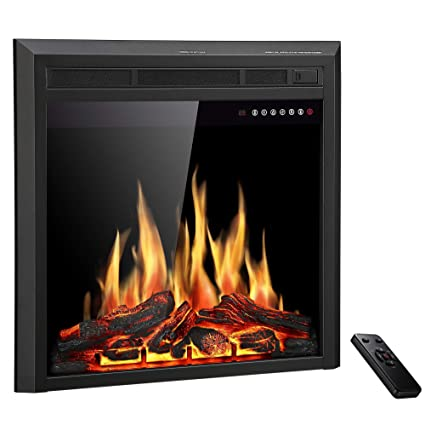 Superb Jamfly 26 Electric Fireplace Insert Freestanding And Recessed Electric Stove Heater Touch Screen Remote Control 750W 1500W With Timer Colorful Download Free Architecture Designs Rallybritishbridgeorg