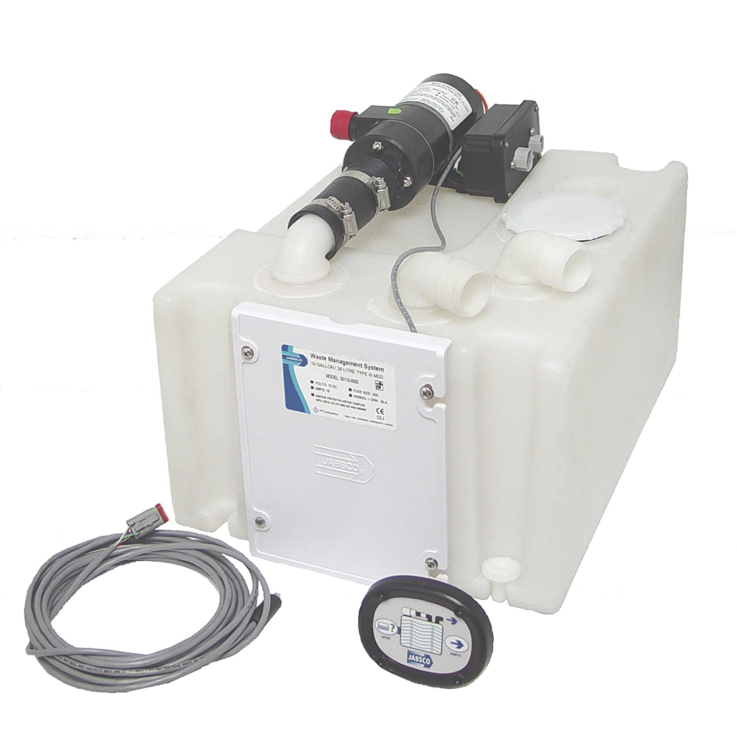 Amazon.com : Jabsco 38110-0092 Marine Waste Holding Tank and Pump  Management System (12-Volt, 16-Amp) : Boat Plumbing Items : Sports &  Outdoors