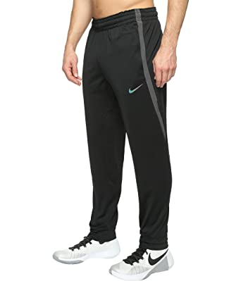 NIKE Mens Elite Basketball Pants Black//Black//Black