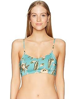 cec94ed469 Amazon.com  RVCA Women s Coast Camp Bralette Bikini Top  Clothing
