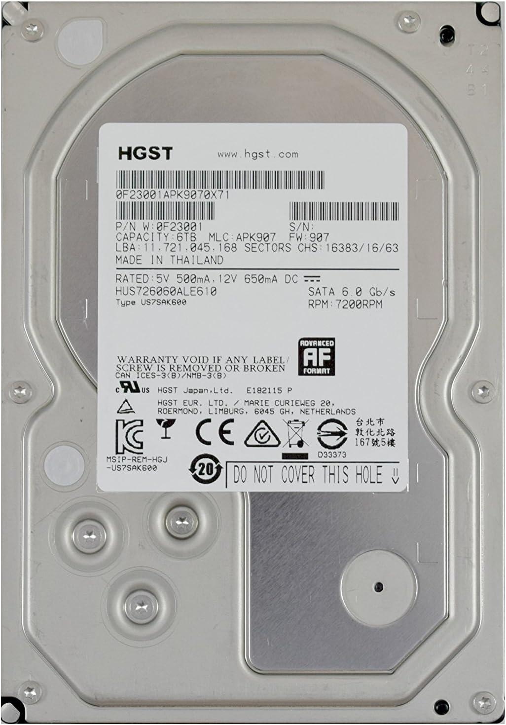 HUS726060ALE610 HGST 6TB SATAIII 128MB RAID, ENTERPRISE ULTRASTAR 7K6000 RAID 24x7 RAID ENTERPRISE