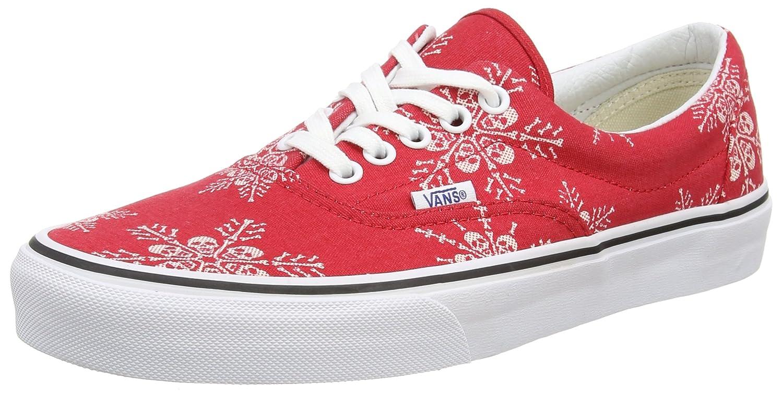 Vans Era, Unisex-Erwachsene Sneakers  41 EU|Rosso (Rouge (Van Doren/Skull Snowflake/Racing Red))